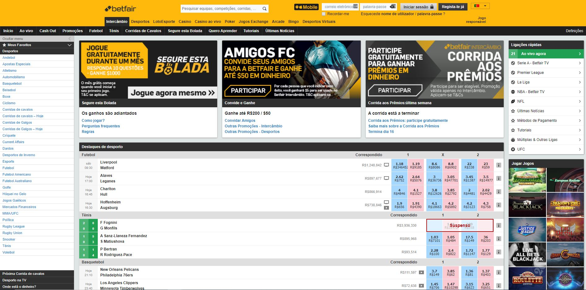 Site Betfair
