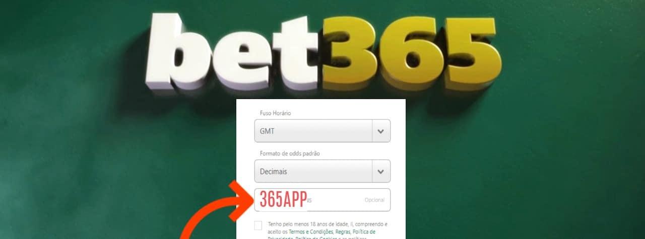 codigo bonus BET365 brasil